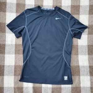 Nike Pro Combat Black Stretch Fitted Shirt